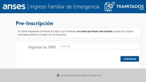 Como anotarse al Ingreso Familiar de Emergencia