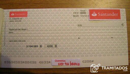 Como endosar un cheque Santander