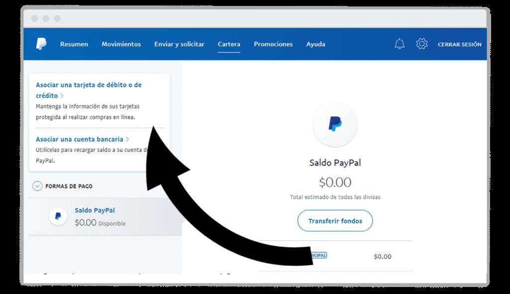 Vincultar tarjeta VISA RUT a Paypal