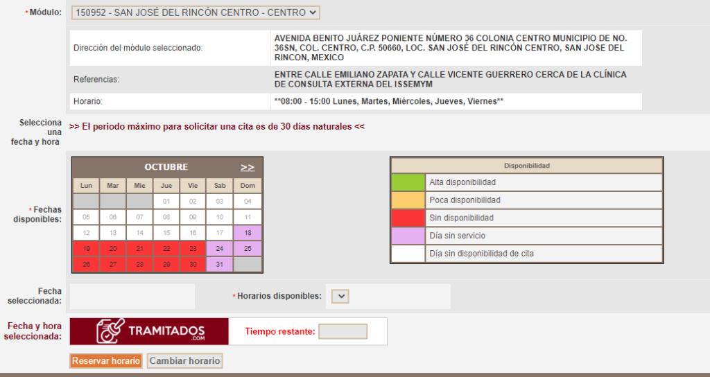 Agendar horario cita INE