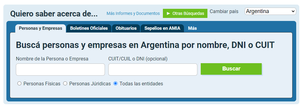 Buscador DNI por nombre argentina