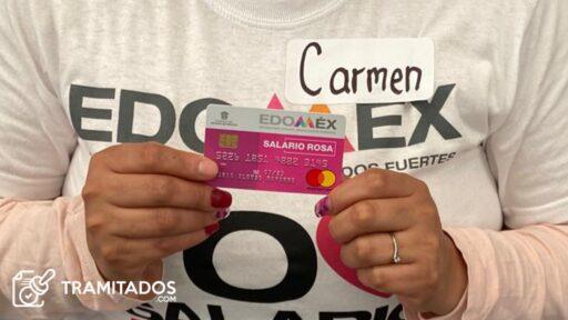 Tramitar tarjeta salario rosa